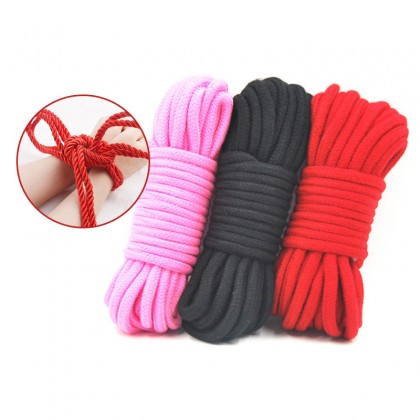 Mizzzee Tied Rope Bondage Sex 10 Meters Bondages Rope Long Thick Cotton SM Body Tied Ropes SM Slave Game Restraint Products Adult Sex Toys for Couples Toys Alat Seks SM