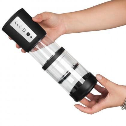 Electronic High-Vacuum Length Adjustable Tube Penis Pump Chargeable - Black Men's Power Vacuum Penis Pump Powerfu Enlargement Electric Penis Extender For Men Ejaculation Delay Enhancer Sex Toys for Men