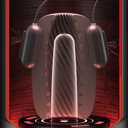 GALAKU - Training In Glans Exerciser Vibrator Delayed Ejaculation Masturbator Chargeable - Spiral Male Glans Exerciser Vibrator Delayed Ejaculation Masturbator Operated Electric Training Massager Pocket Pussy for Men Alat Seks Lelaki