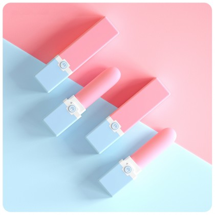 XIUXIUDA - UU Lips Stick Egg Vibrator Chargeable - Pink Female Strong Rabbit Vibration G-spot Clitoris Stimulator Magic Wand Av Rod Massage Masturbator Orgasm Adult Sex Toy For Women Alat Seks Perempuan