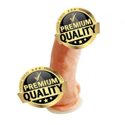 PLEASE ME Enlarge & Elongate Durable TPR Crystalline Male Penis Sleeve L:13.8cm - D:3.7cm Male Delay Soft Silicone Penis Sleeve Condom Enlargement Extender Reusable Condoms Extension Sleeve Adult Toy For Men Alat Seks Lelaki (Semburan Tahan Lama)
