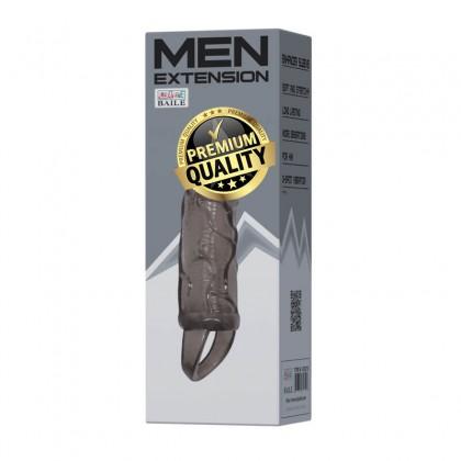 BAILE Penis Elongate L:13.5cm - D:3.5cm Male Delay Soft Silicone Penis Sleeve Condom Enlargement Extender Reusable Condoms Extension Sleeve Adult Toy For Men Alat Seks Lelaki (Semburan Tahan Lama)